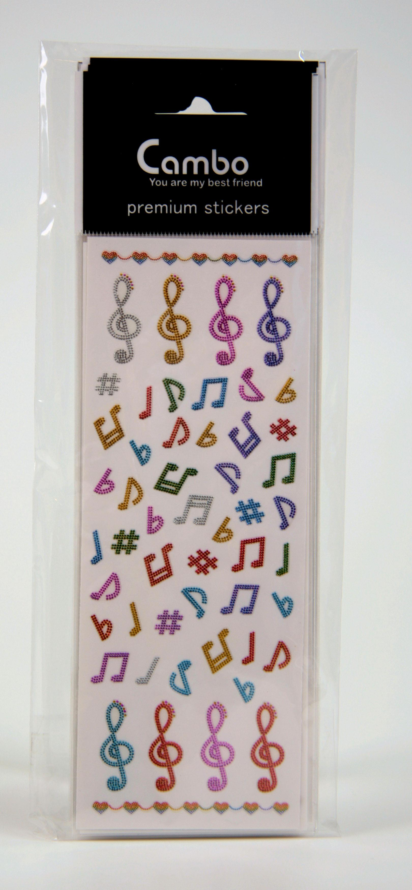 Stickers Music Signs 12-Bogen-Packung