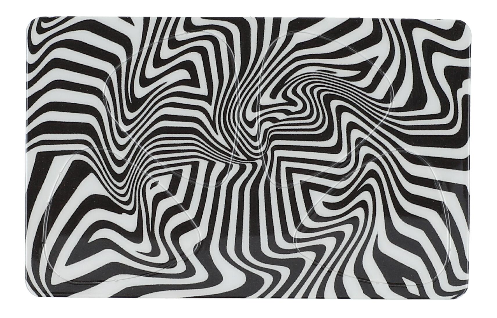 Pikcard Black and White Swirl