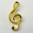 Pin, ohne Box, Violinschlüssel - Material: goldplated