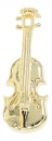 Pin, ohne Box, Violine - Material: goldplated